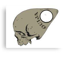 Ouija Skull Canvas Print