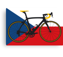 Bike Flag Czech Republic (Big - Highlight) Canvas Print