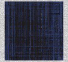 Line Art Dark Blue Matrix One Piece - Short Sleeve