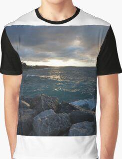 ocean night with splash Graphic T-Shirt
