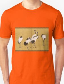 Maruyama okyo - First Of A Pair Of 6 Panel Screens. Bird painting: cute fowl, fly, wings, lucky, pets, wild life, animal, birds, little small, bird, nature Unisex T-Shirt