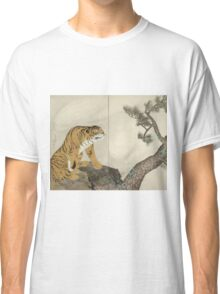 Maruyama okyo - Tiger. portrait Tiger: tiger on the tree, tree, striped, nature, strong, beast, animal, predator, mountain,  mountain tree, fly Classic T-Shirt