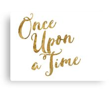 Golden Look Once Upon a Time Canvas Print