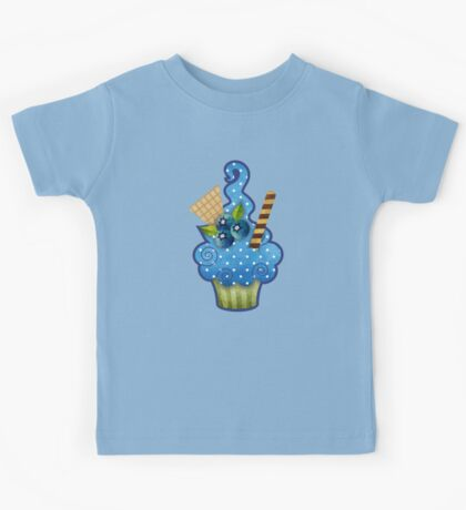 Blueberry Cupcake Kids Tee