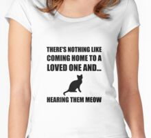 Loved One Meow Women's Fitted Scoop T-Shirt