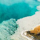 Steaming Turquoise Thermal Pool by Kenneth Keifer