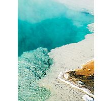 Steaming Turquoise Thermal Pool Photographic Print