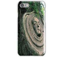 Face in the Tree Trunk iPhone Case/Skin