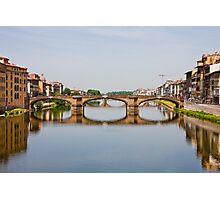 Bridge From Ponte Vecchio Photographic Print