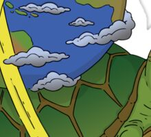 Turtle Earth Sticker