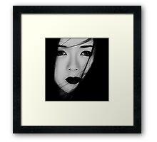 Gothic geisha Framed Print