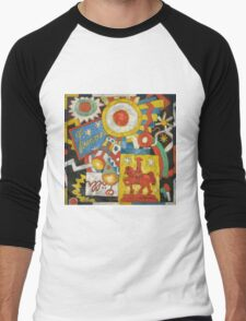 Marsden Hartley - Himmel. Abstract painting: abstract art, geometric, expressionism, composition, lines, forms, creative fusion, spot, shape, illusion, fantasy future Men's Baseball ¾ T-Shirt