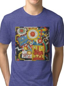 Marsden Hartley - Himmel. Abstract painting: abstract art, geometric, expressionism, composition, lines, forms, creative fusion, spot, shape, illusion, fantasy future Tri-blend T-Shirt