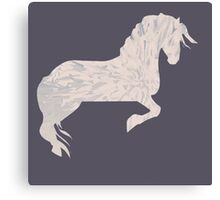 Pink Marbled Pony Canvas Print