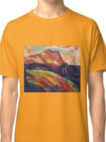 Marsden Hartley - Mont Sainte-Victoire. Mountains landscape: mountains, rocks, rocky nature, sky and clouds, trees, peak, forest, rustic, hill, travel, hillside Classic T-Shirt