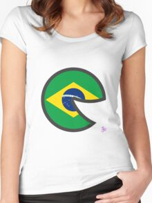 Brazil Smile Women's Fitted Scoop T-Shirt