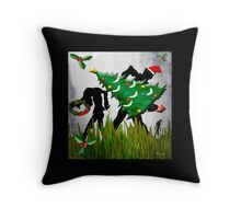 HAPPY WALKING DeadMas Throw Pillow