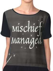 Mischief Managed Chiffon Top