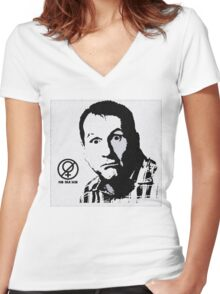 Al Bundy, No ma'am Classic, Married with Children Women's Fitted V-Neck T-Shirt