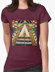 Marsden Hartley - Painting No. 50. Abstract painting: abstract art, geometric, expressionism, composition, lines, forms, creative fusion, spot, shape, illusion, fantasy future Womens Fitted T-Shirt