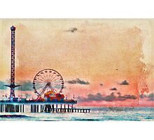 Galveston's Historic Pleasure Pier Photographic Print