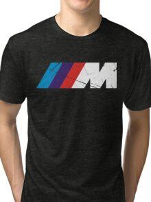 BMW M logo - white Tri-blend T-Shirt