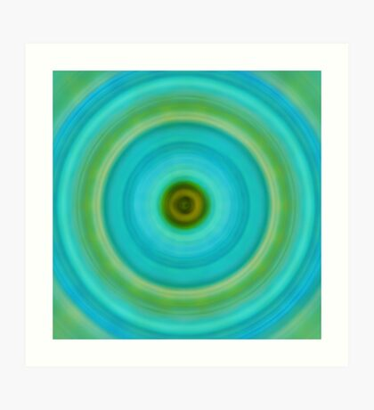 Soft Healing - Energy Art By Sharon Cummings Art Print