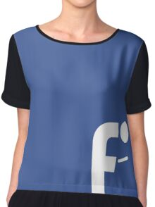 F-posture: take your eyes off your smartphone Chiffon Top