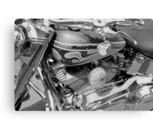 Black and White Harley Canvas Print