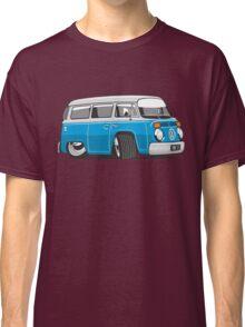 VW T2 Microbus cartoon blue Classic T-Shirt