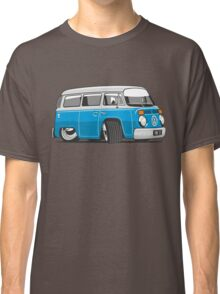 VW T2 Microbus cartoon blue Classic T-Shirt