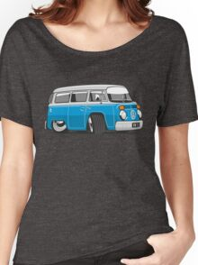 VW T2 Microbus cartoon blue Women's Relaxed Fit T-Shirt