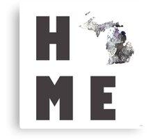 "Michigan ""HOME"" Canvas Print"