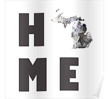 "Michigan ""HOME"" Poster"