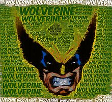 Wolverine with Text by Colin Bradley