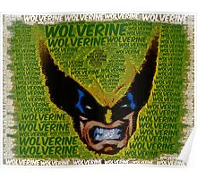 Wolverine with Text Poster