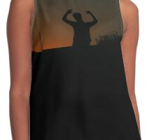 Silhouette Sunset Contrast Tank