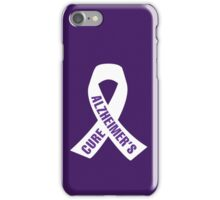 Cure Alzheimer's Ribbon iPhone Case/Skin