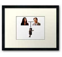 Tony, Ziva and Tali - Family Tree Framed Print