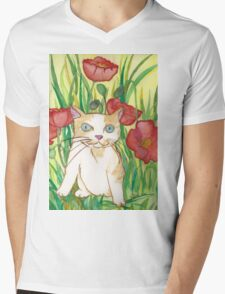 Between poppies Mens V-Neck T-Shirt