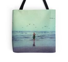 Woman at the Sea Shore Tote Bag