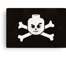 Brick Steez: Skull & Crossbones Canvas Print
