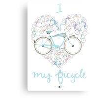 I Love my Bicycle Print Metal Print