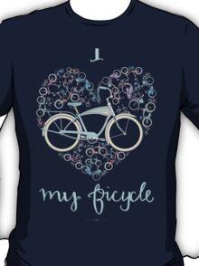 I Love my Bicycle Print T-Shirt