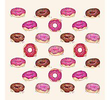 Homemade Doughnuts Photographic Print