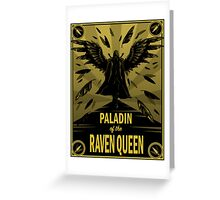 Paladin of the Raven Queen Greeting Card