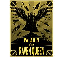 Paladin of the Raven Queen Photographic Print