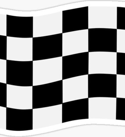 Race finish flag Sticker