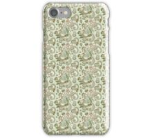 Green and Beige Floral Damask iPhone Case/Skin