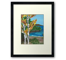 Birch Tree Beach Framed Print